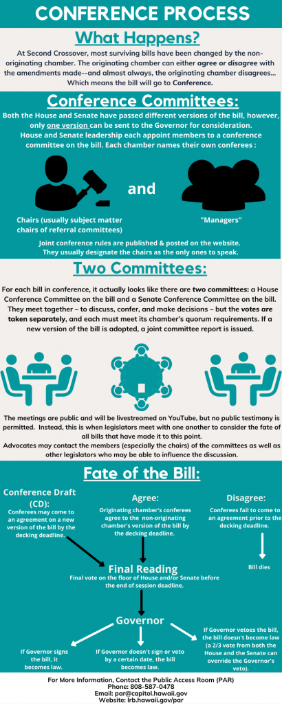 Conference process infographic